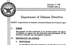 DoD Directive Establishes the Advanced Research Projects Agency