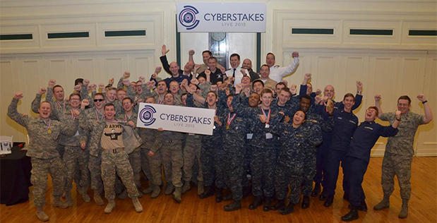 More than 40 Cadets and Midshipmen from the four Service academies participated in the second annual DARPA Service Academy CyberStakes Live event this past weekend. Held at the Soldiers and Sailors Memorial Hall & Museum in Pittsburgh, the decathlon-style