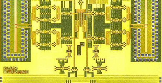 DARPA's Efficient Linearized All-Silicon Transmitter ICs (ELASTx) program recently demonstrated an all-silicon, microchip-sized transmitter—a system on a chip (SoC)—that operates at 94 GHz. This accomplishment marks the first time a silicon-only SoC has achieved such a high frequency, which falls in the millimeter-wave range used for many military applications, such as radar, guidance systems and communications.