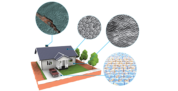 Futuristic construction materials that repair themselves. Credit: DARPA