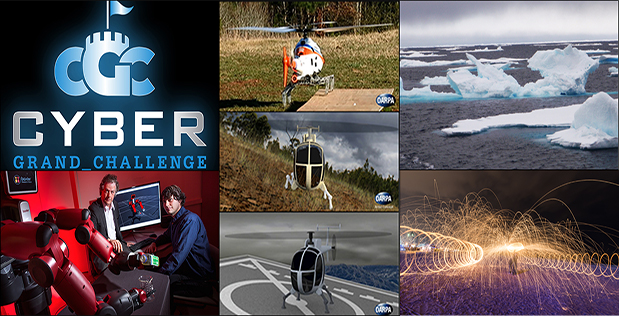 DARPA's High-speed Optimized Handling of Holiday Operations (HO HO HO) initiative aims to help Santa Claus and his elves more quickly and efficiently complete their holiday duties by providing access to research from numerous DARPA programs and research efforts. This year's contributions include the Cyber Grand Challenge (CGC) (top left), Mathematics of Sensing, Exploitation and Execution (MSEE) (bottom left), prototype robotic landing gear (center), Assured Arctic Awareness (AAA) (upper right) and Revolutionary Enhancement of Visibility by Exploiting Active Light-fields (REVEAL) (bottom right). Click below for a high-resolution image.
