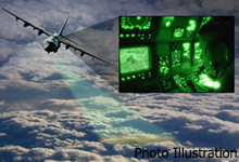 Image Caption: Photo illustration of the ViSAR system. Recent flight tests proved the ViSAR sensor can provide uninterrupted real-time video of ground objects through clouds.