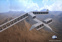 DARPA's Vertical Takeoff and Landing Experimental Plane (VTOL X-Plane) program seeks to provide innovative cross-pollination between fixed-wing and rotary-wing technologies and by developing and integrating novel subsystems to enable radical improvements in vertical and cruising flight capabilities. In an important step toward that goal, DARPA has awarded the Phase 2 contract for VTOL X-Plane to Aurora Flight Sciences. Click below for high-resolution images.