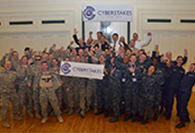 More than 40 Cadets and Midshipmen from the four Service academies participated in the second annual DARPA Service Academy CyberStakes Live event this past weekend. Held at the Soldiers and Sailors Memorial Hall & Museum in Pittsburgh, the decathlon-style computer security competition pitted teams from each school head to head over three days. DARPA's CyberStakes effort seeks to support the Defense Department's goal to integrate 6,000 cybersecurity experts into combat commands by 2016.
