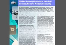 DARPA Accomplishments: Seminal Contributions to National Security