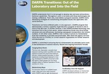 DARPA Transitions: Out of the Laboratory and Into the Field