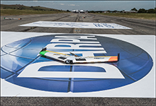 Fixed-wing UAVs on runway after match at DARPA Service Academies Swarm Challenge