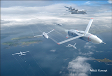 DARPA's Gremlins program seeks to develop innovative technologies and systems that would enable existing aircraft to launch volleys of low-cost, reusable unmanned air systems (UASs) and safely and reliably retrieve them in mid-air. In an important step toward that goal, DARPA has awarded Phase 1 contracts for Gremlins to four competing teams led by Composite Engineering, Inc., Dynetics, Inc., General Atomics Aeronautical Systems, Inc., and Lockheed Martin Corporation. Click below for high-resolution image.