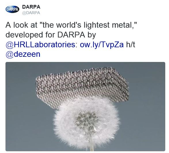 World's Lightest Metal