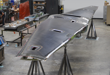 Image Caption: Tern, a joint program between DARPA and the U.S. Navy's Office of Naval Research (ONR), has made significant advances during Phase 3 on numerous fronts, including commencement of wing fabrication (above) and completion of successful engine testing for its test vehicle, and funding of a second test vehicle. Click below for high-resolution image.