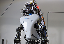 The DARPA Robotics Challenge teams using the Atlas robot met in Waltham, Mass., on January 12, 2015, to learn about upgrades to the robot. (DARPA image courtesy of Worcester Polytechnic Institute)