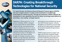 DARPA: Creating Breakthrough Technologies for National Security
