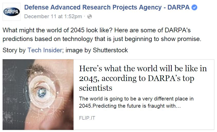 DARPA Envisions the World of 2045